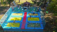 elastic trampolines for amusement parks